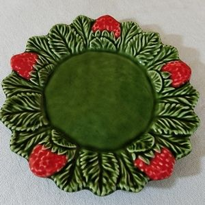 Vintage Strawberry Decorated Plate